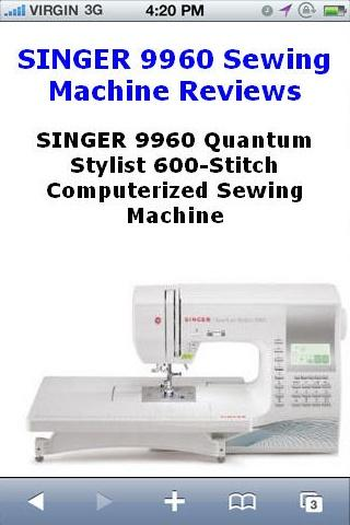 Sewing Machine 9960 Reviews
