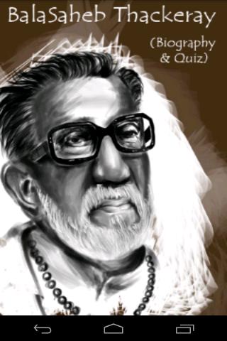 Balasaheb Thackeray Biography