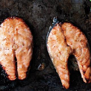 Miso-Glazed Salmon Steaks