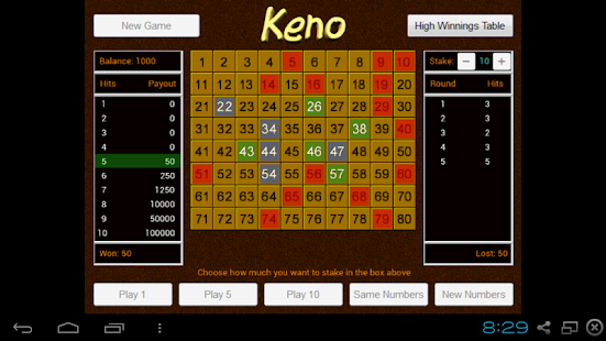 Best free keno app