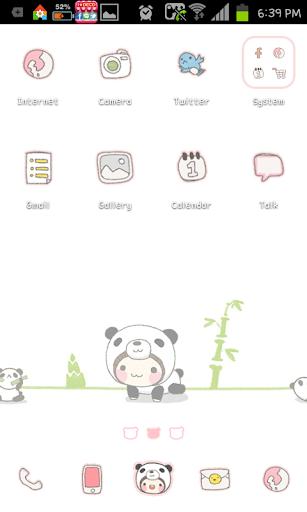 Panda Bebe go launcher theme