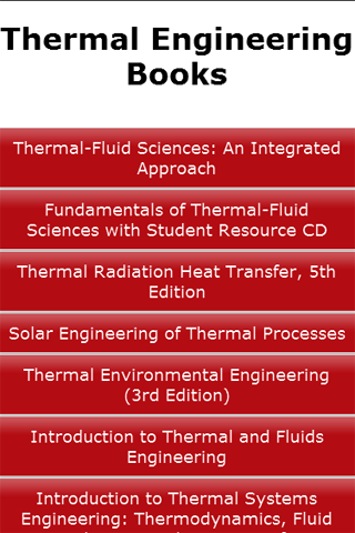 Thermal Engineering Books