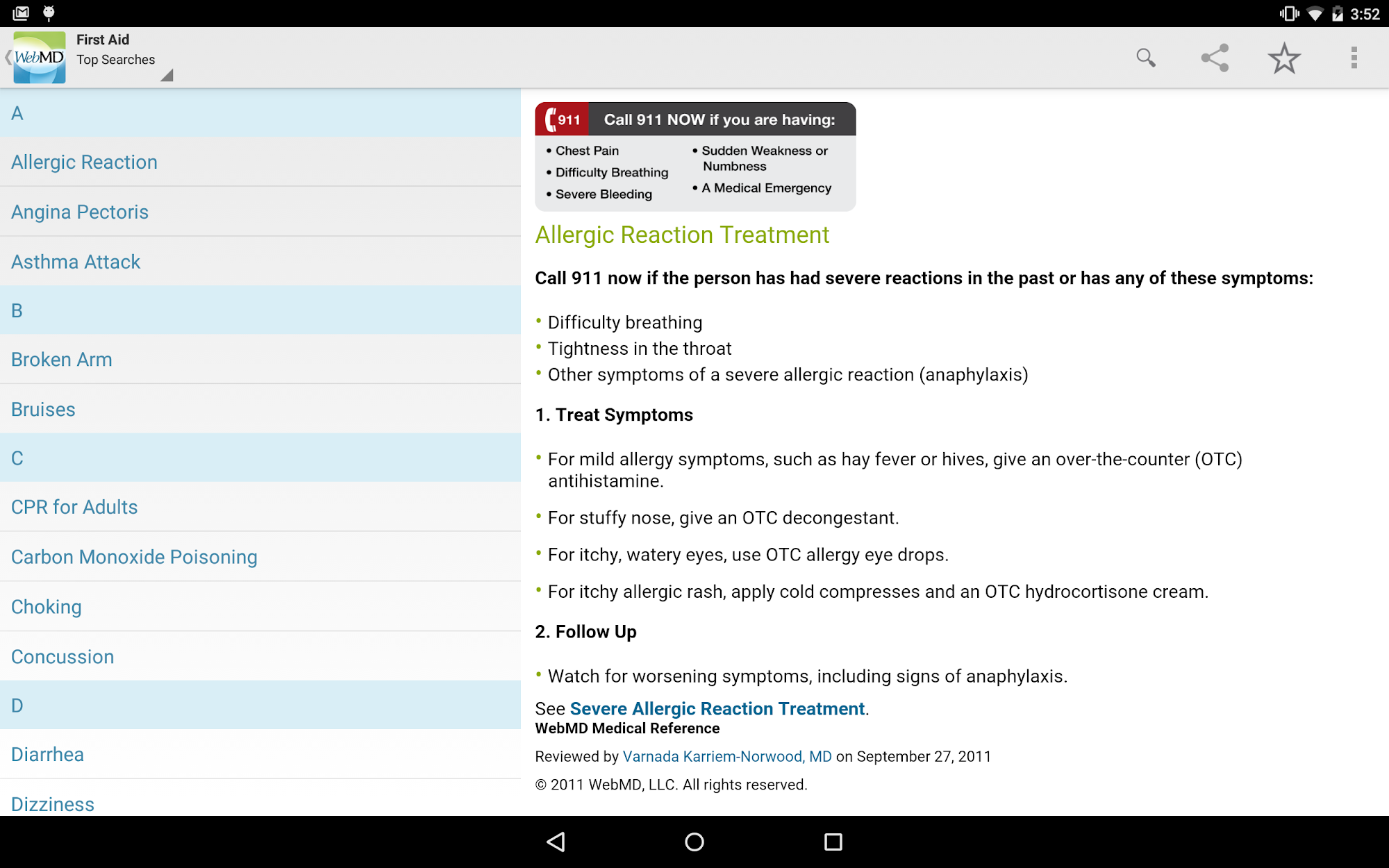 WebMD for Android screenshot #9