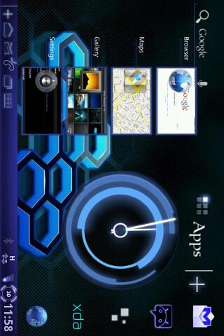 Honeycomb-3D SB Theme - screenshot