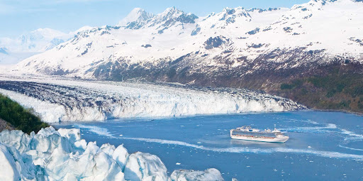 Princess-Cruises-Alaska-Sapphire-Princess-College-Fjord - Sapphire Princess sails through College Fjord, Alaska.