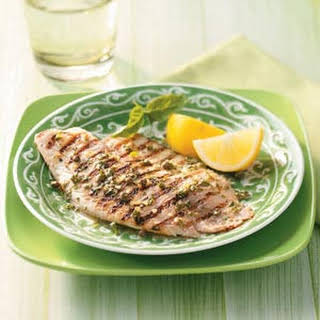Grilled Tilapia with Lemon Basil Vinaigrette.
