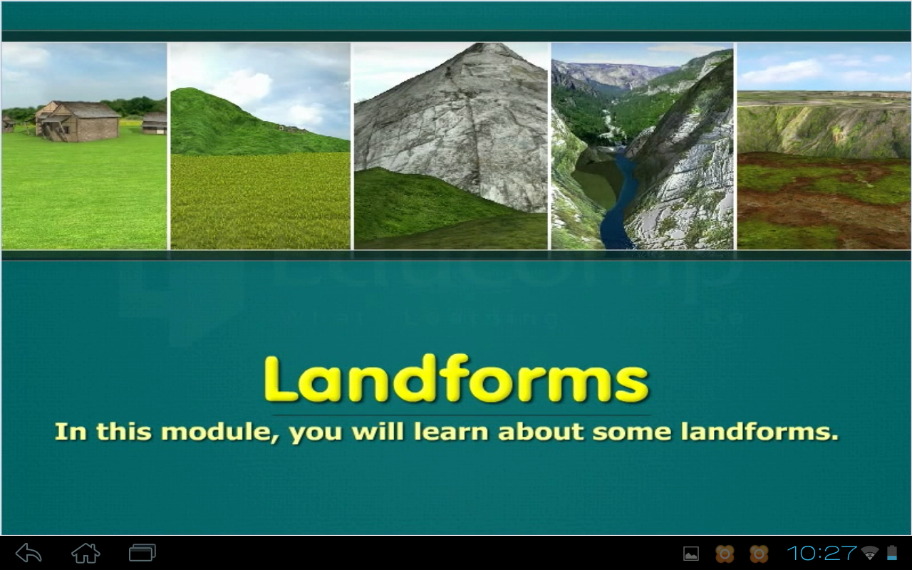 4 basic landforms image collections