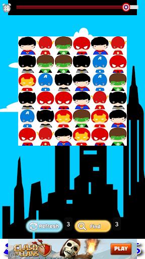 【免費休閒App】Superhero Kids Match!-APP點子