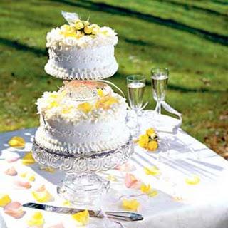 Tiered Poppy Seed Wedding Cake.