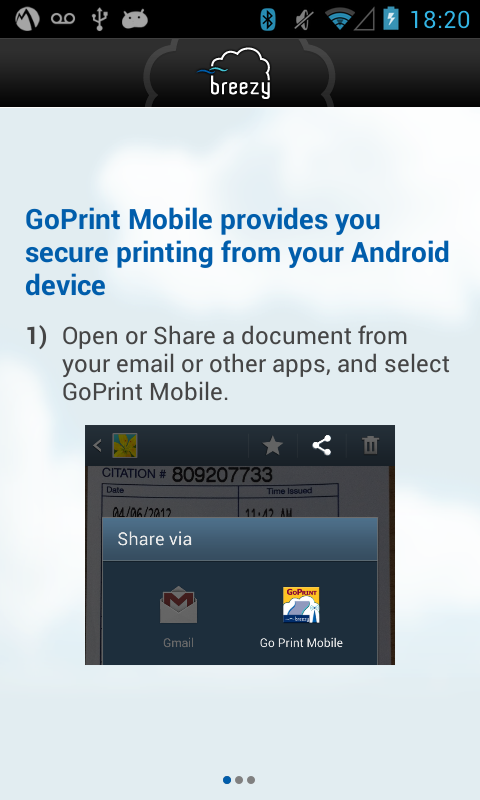 GoPrint Mobile - screenshot