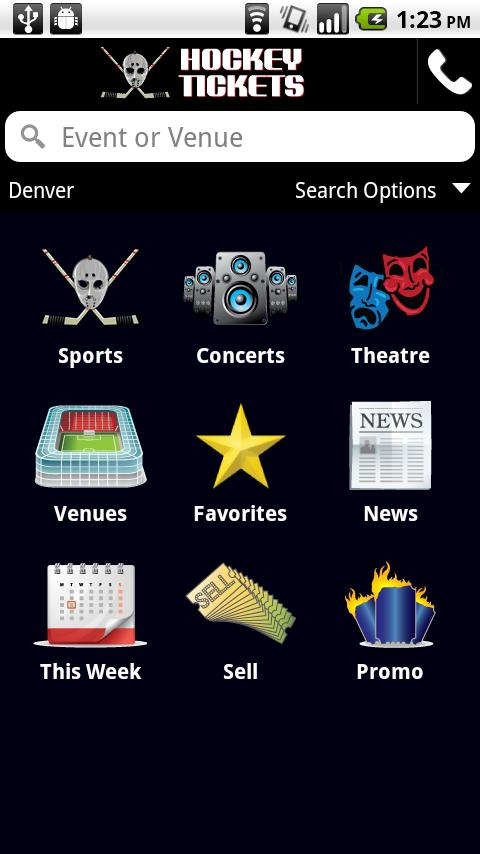 Hockey Ticket App- screenshot