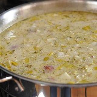 Broccoli, Leek, and Potato Soup.