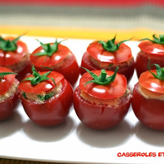 Italian Stuffed Cocktail Tomatoes.