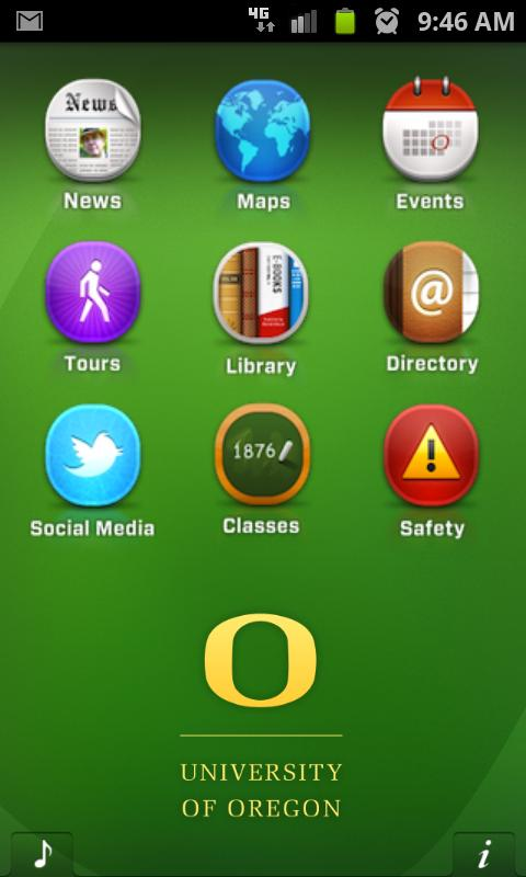 UOregon - screenshot
