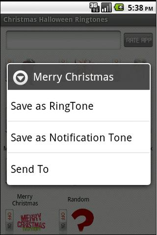Christmas Halloween Ringtones - screenshot
