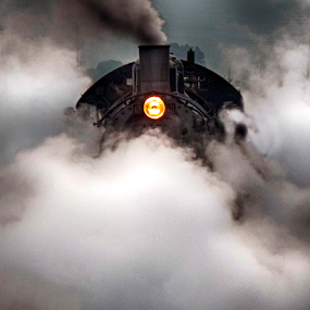 by Donna Neal - Transportation Trains ( steam train )