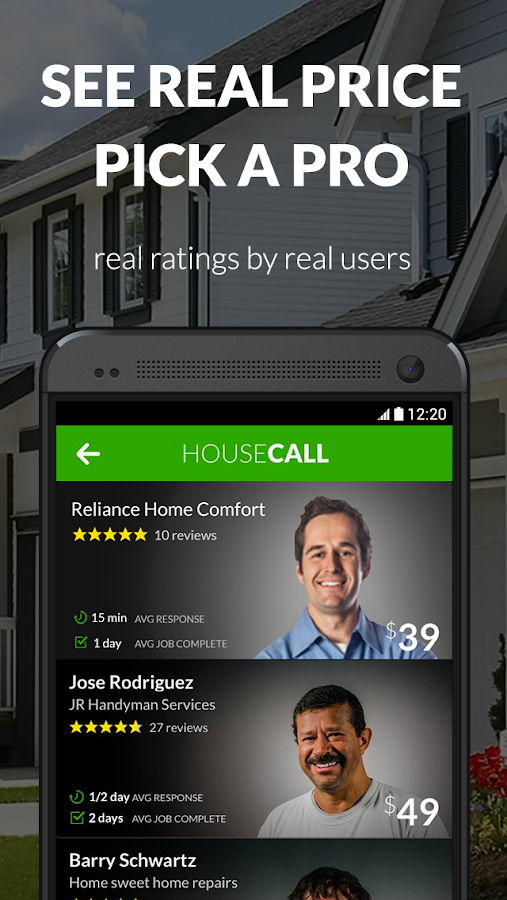 Housecall- screenshot
