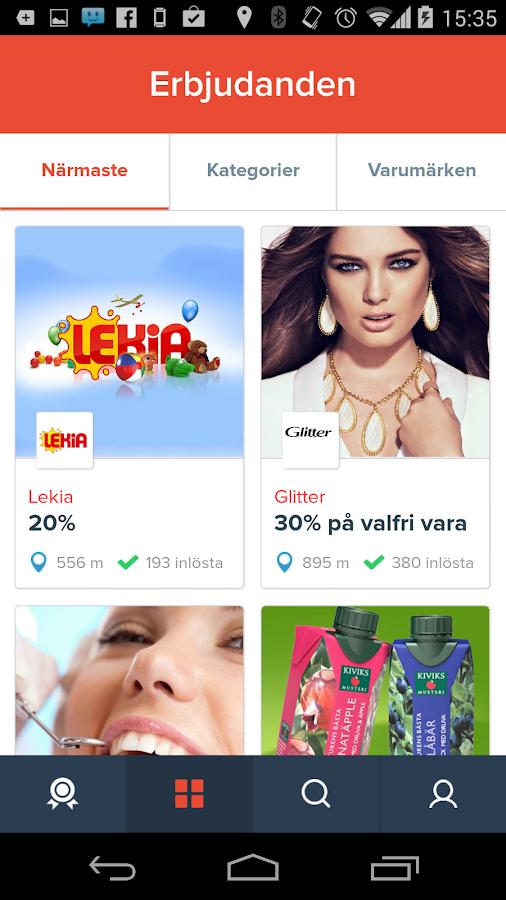 Klipster erbjudanden- screenshot