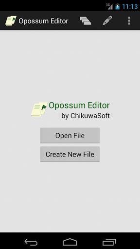 Opossum Editor