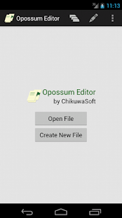 Opossum Editor- screenshot thumbnail