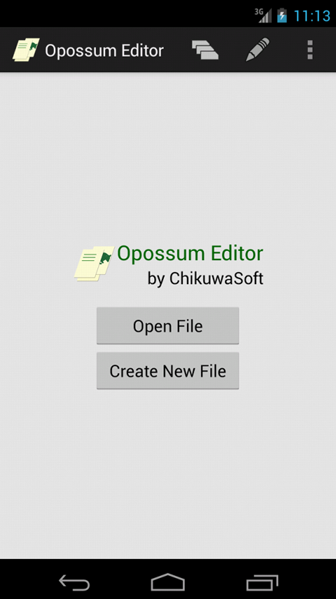 Opossum Editor- screenshot