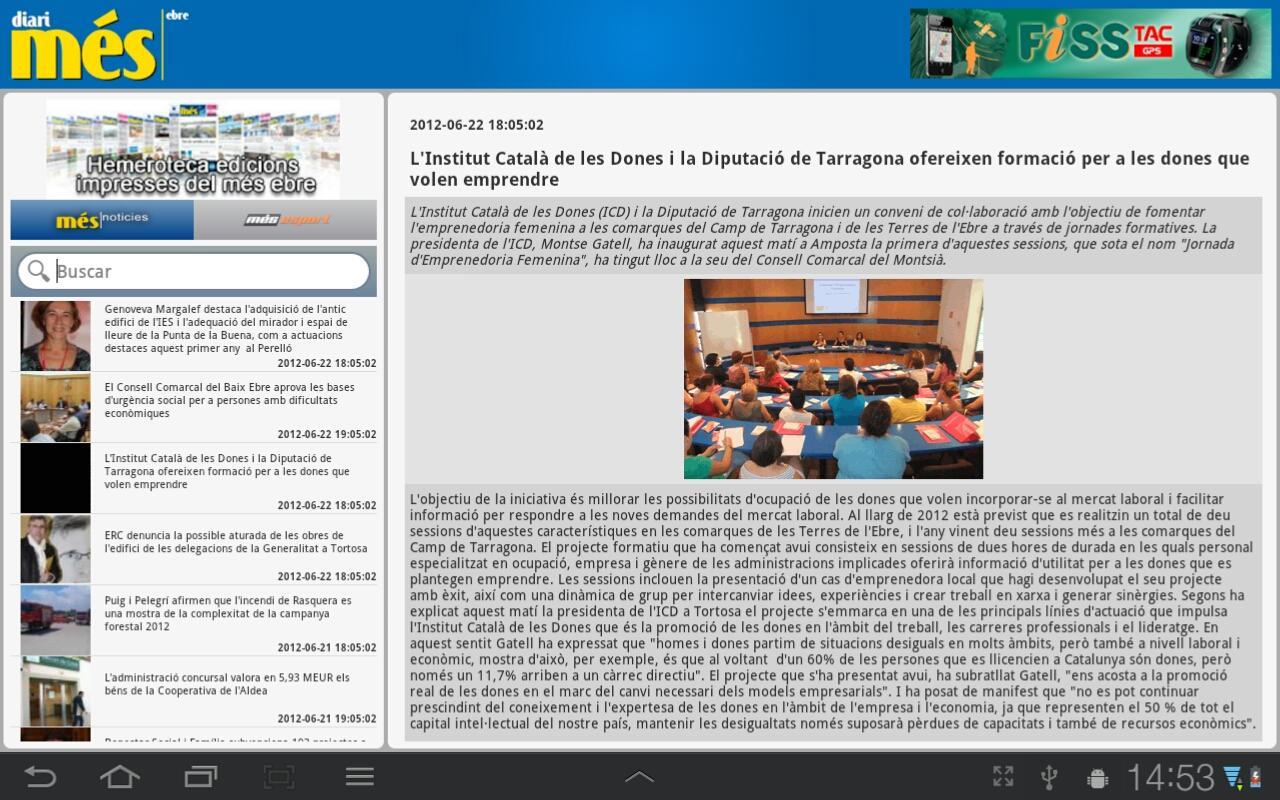 Més Ebre (tablets)- screenshot
