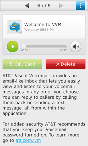AT T Visual Voicemail