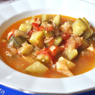 Italian Style Zucchini and Tomato Soup.