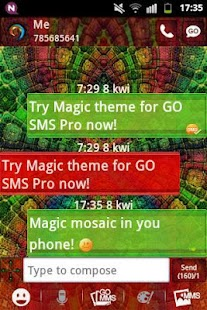GO SMS PRO Theme Magic Mosaic - screenshot thumbnail