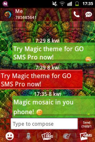 GO SMS PRO Theme Magic Mosaic - screenshot