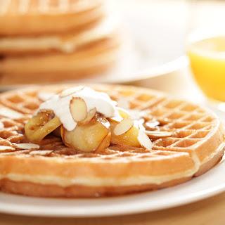 Cinnamon Apple Waffles.