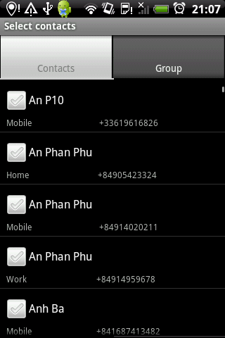 Group SMS Pro & Scheduler - screenshot