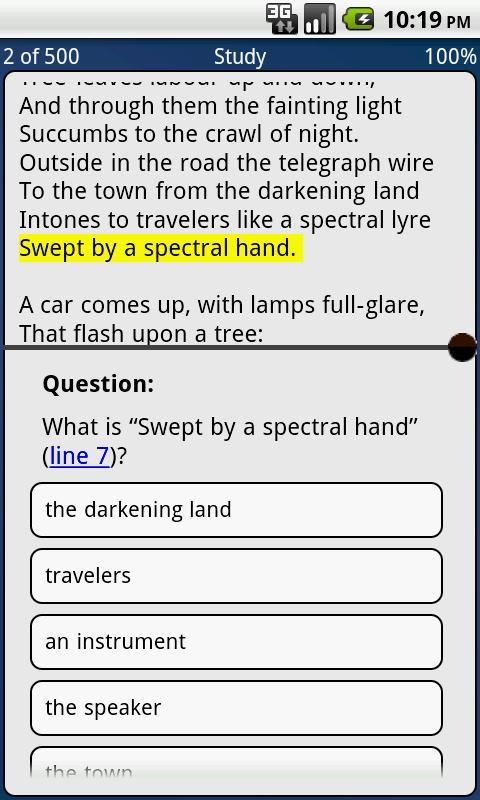 500 AP English Literature Ques- screenshot