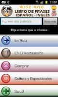 Screenshot of English-Spanish PhraseBookFree