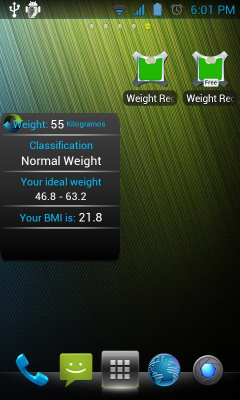 Weight Recorder BMI free - screenshot
