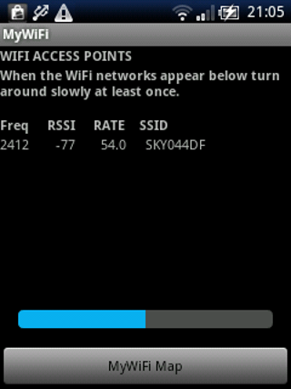 MyWiFi RADAR- screenshot