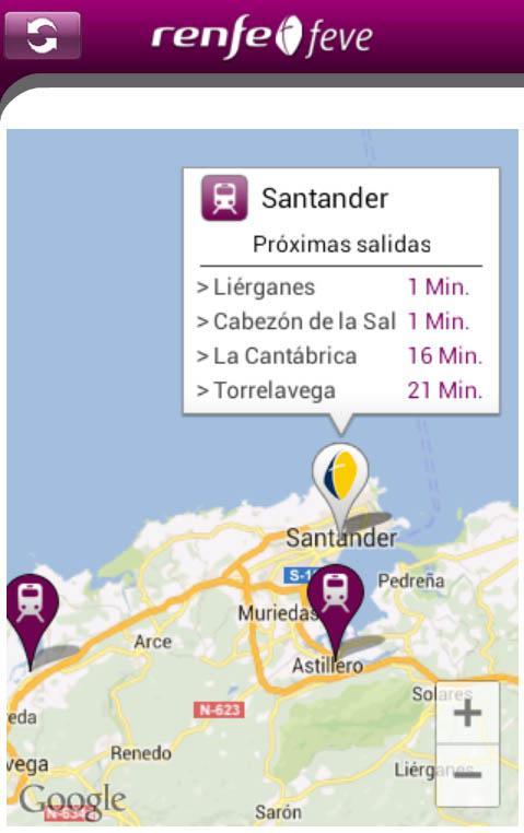 Horarios RENFE FEVE - screenshot