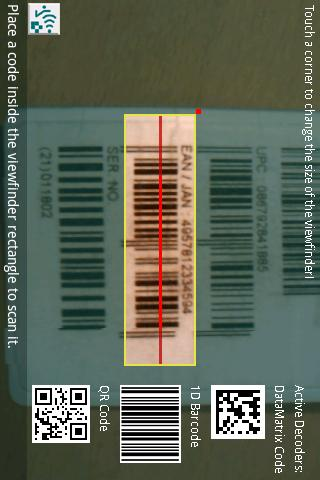 ixMAT Barcode Scanner - screenshot