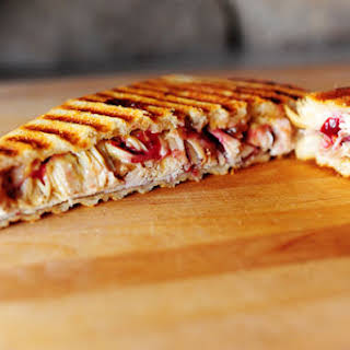 Leftover Turkey and Swiss Panini.