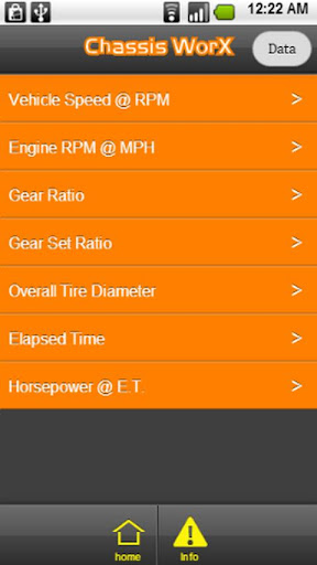 Chassis WorX Car Calculator