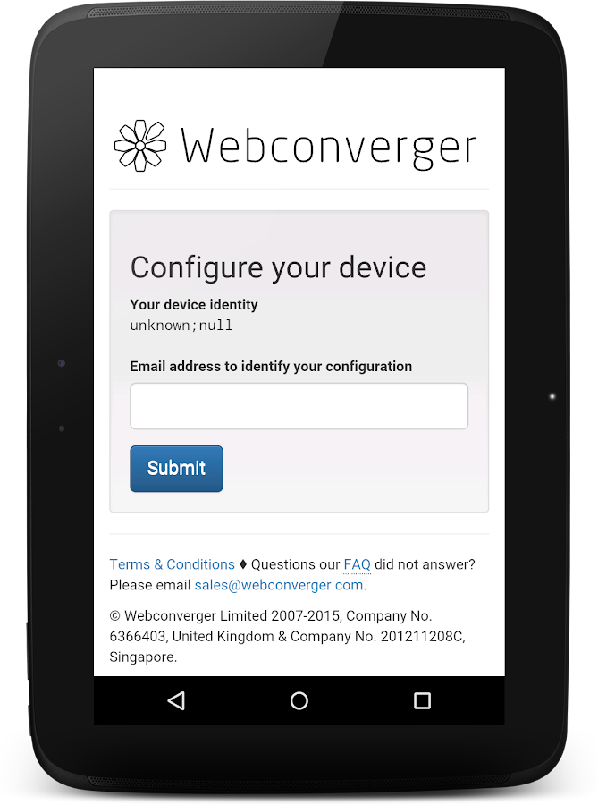 Webconverger Web Kiosk- screenshot