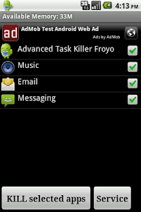 Advanced Task Killer Froyo screenshot 0