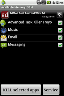 Advanced Task Killer Froyo- screenshot thumbnail