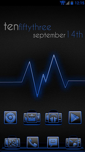 Serenity Launcher Theme Blue