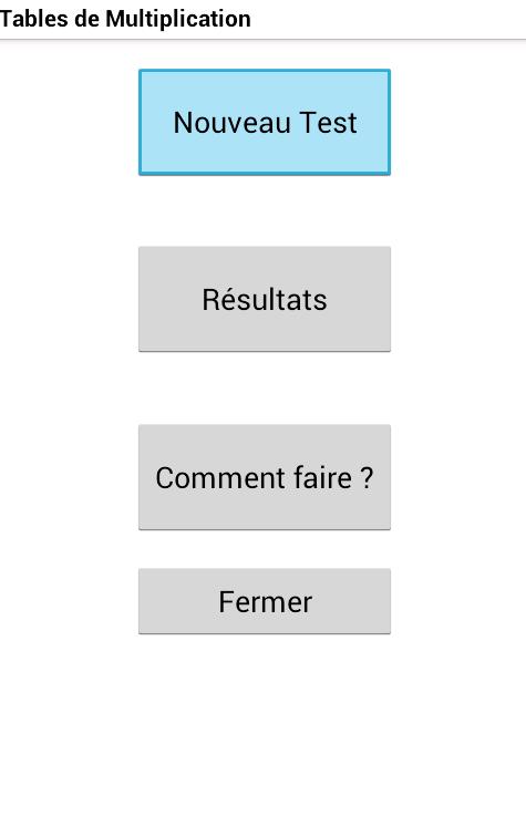 Tables de Multiplication - screenshot