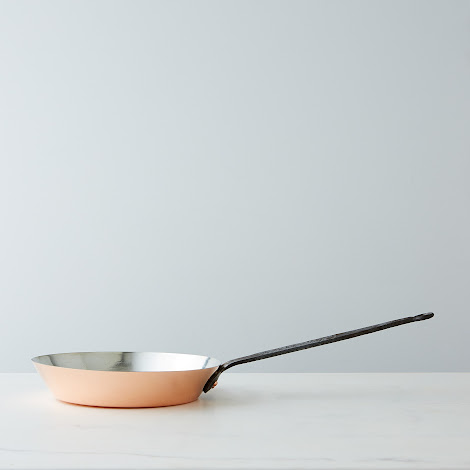 Vintage Copper French Forged Fry Pan, Late 19th Century