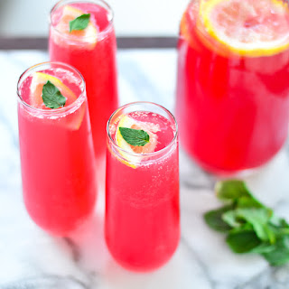 Pomegranate Lemonade Spritzers