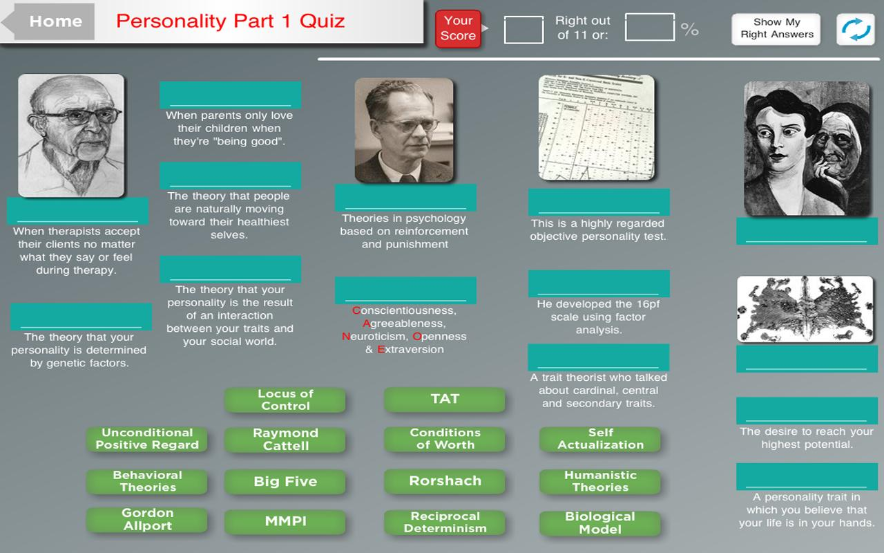 Psyc Test Hero Tablet - screenshot