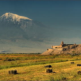 Holly Mountain & Monastery | Armenia by Pavel Aberle - Landscapes Travel ( canon, mountain, armenia, 350d, monastery, landscape, caucasus, ararat )