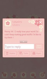 GO SMS/GOLauncher Flower theme - screenshot thumbnail